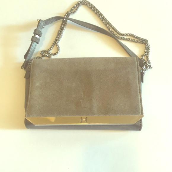 778011109dd Halston Heritage Bags   Grey Leather And Suede Bag   Poshmark